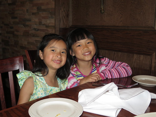 Rieley and Nadia at dinner