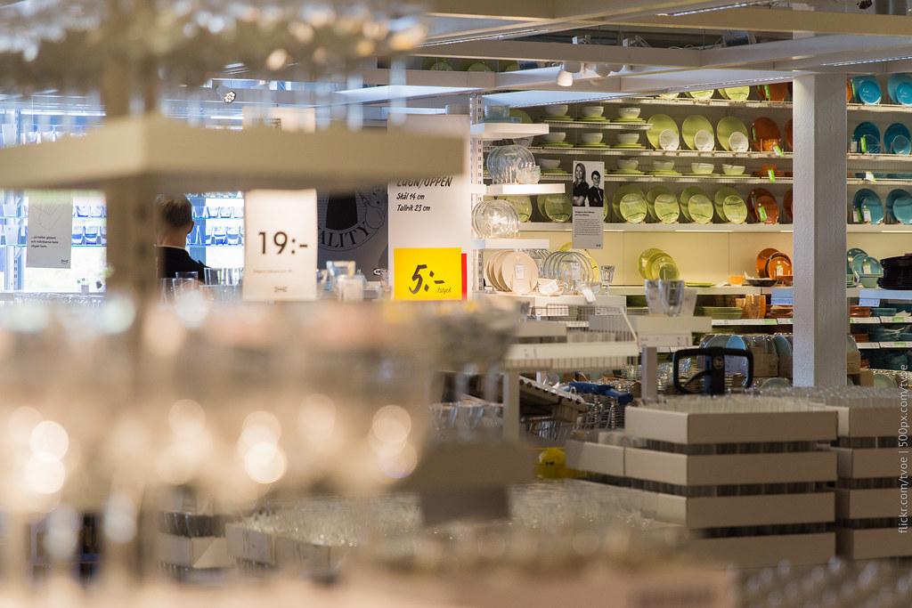 Посуда в Икее Стокгольма
