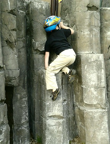 Boy Rock Climbing 2