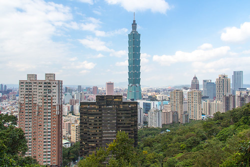 Taipei 101 from Elephant Hill