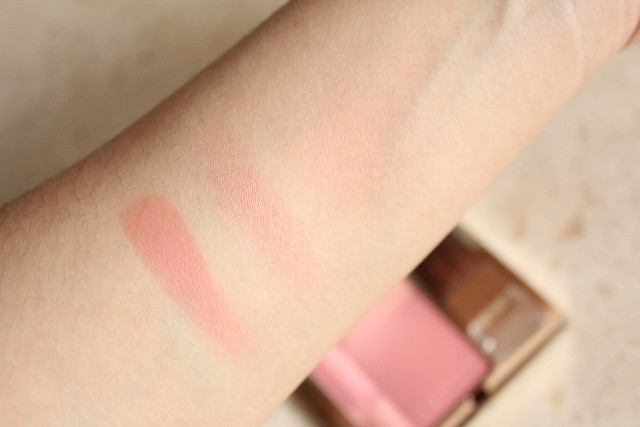 clarins blush sweet rose swatches