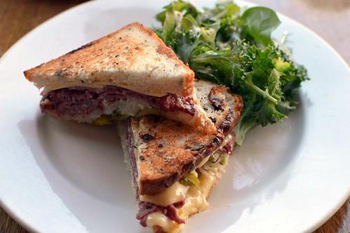 Smoked Wagyu beef sandwich