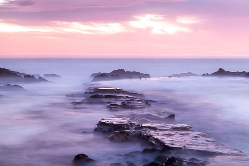 pink sunset sea water pool misty southafrica coast rocks surreal le mauve sa bluehour pe tidal tidalpool portelizabeth zsa mistywater