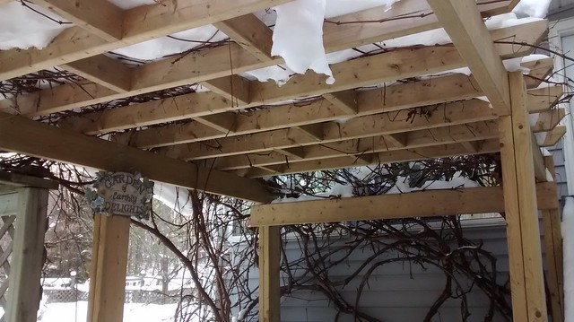 Pergola Winter Update (or is it an arbor?)