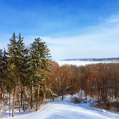 The frozen Hudson