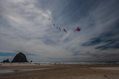 Kite Over Haystack