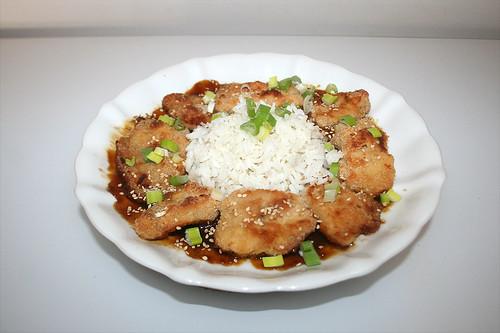Crispy oven chicken with orange sauce / Knuspriges Ofenhähnchen mit Orangensauce - Resteverbrauch