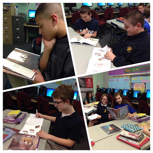 8th graders thinking about the Caldecott
