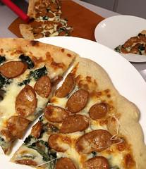 Andouille Kale Cannellini Pizza