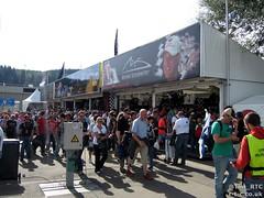 Schumacher attracting his own merchandise stall.