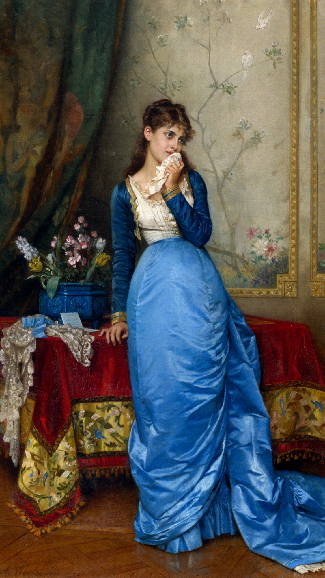 The Letter by Auguste Toulmouche, 1879