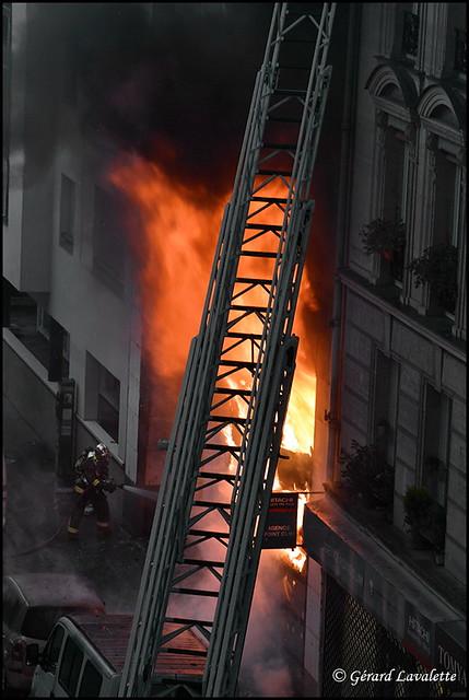 Incendie rue de Charonne Paris