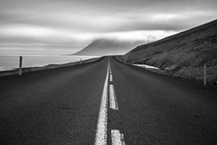 Iceland's Western Fjords - Black and White