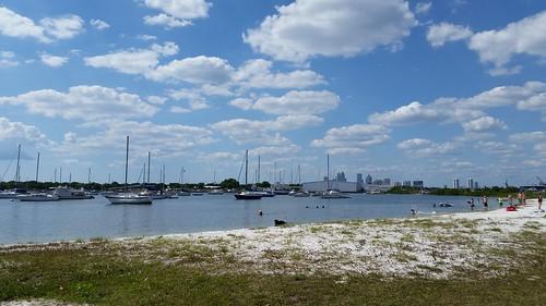 summer sky beach water clouds marina tampa landscape boats sand downtown tampabay florida fl sailboats davisisland lovefl
