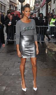Alesha Dixon White Pumps Celebrity Style Women's Fashion