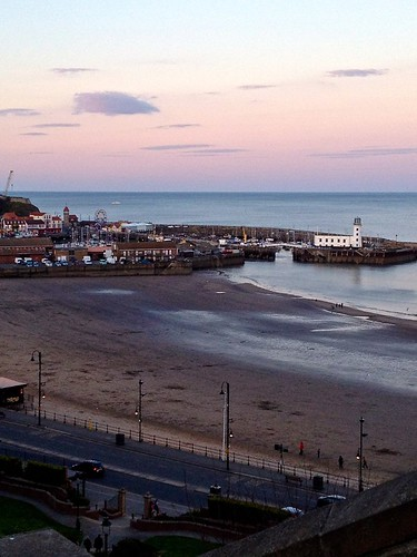 Scarborough at dusk
