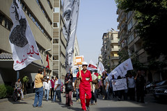Egyptian workers march to Shura Council on May Day 2013