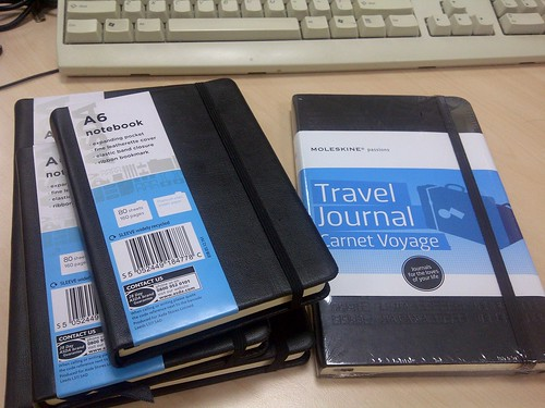 Moleskine travel journal notebook