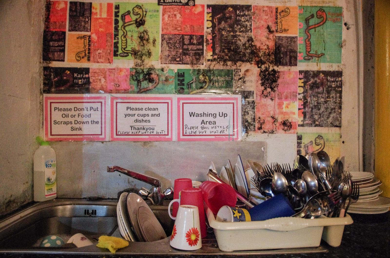 Dublin alternatif - Seomra Spraoi - The dishwasher notice