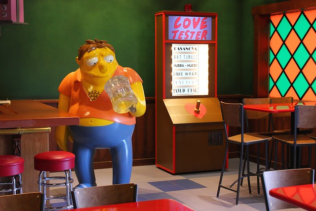 The Simpsons Springfield Fast Food Boulevard at Universal Orlando
