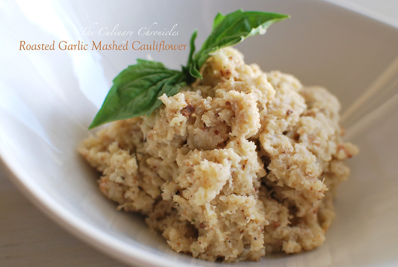 Roasted Garlic Mashed Cauliflower
