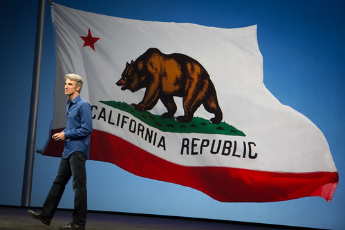 Craig Federighi Over California by bump