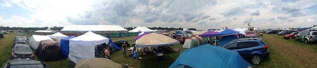 Bonnaroo 2013 - Another panoramic from campsite (These are our tents in middle/left foreground)