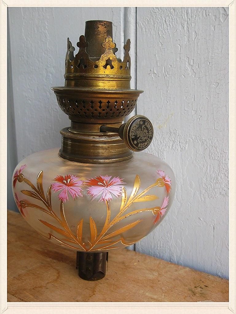 vintage lampe p trole verre kosmos brenner prima germany suisse autiche xix ebay. Black Bedroom Furniture Sets. Home Design Ideas
