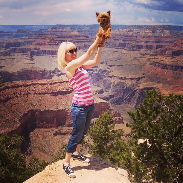 Day201 Muffins and me at the Grand Canyon (cue Circle of Life Lion King theme song) 7.20.13 #arizona #grandcanyon #jessie365