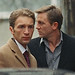 Small photo of Daniel Craig with Alexey Diakov on film set.