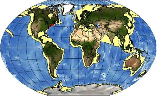 map-continental shelf commerical fishing industry