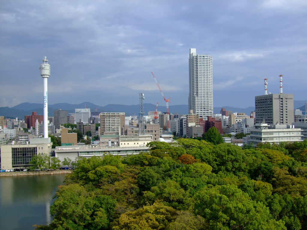 View of Hiroshima from the Castle