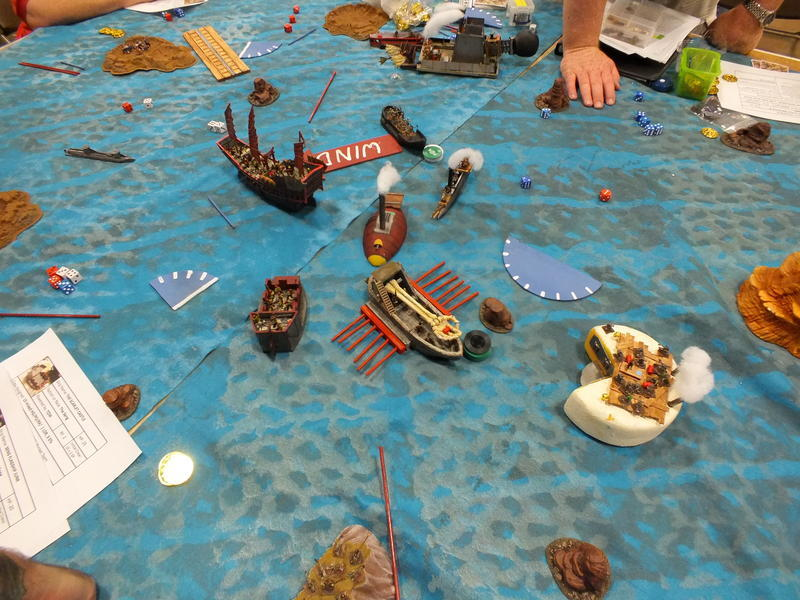 Gun Fire Scarlet Castle versus Bone Brigade