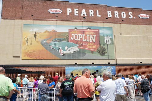 Dedication for a new mural on Main street in Joplin, MO