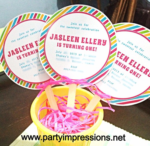 Candyland Lollipop Party Invitation