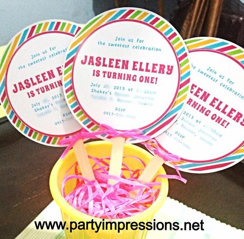 Party Impressions Candyland Lollipop Invitation