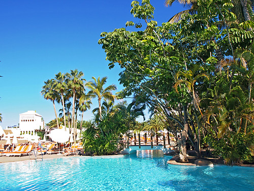 Swimming Pool, Jardin Tropical, Costa Adeje, Tenerife