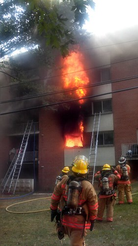 2 alarm apartment complex in the 9300 block of Piney Branch Road in Silver Spring