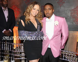 NaS 40th Birthday party pics . Mariah Carey , Pusha T , Mike Will Made It and more