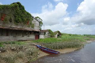 Antiga fábrica de café em Peperpot Park no Suriname