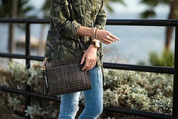 eatsleepwear, brahmin, bag, camoflague-jacket, current-elliott