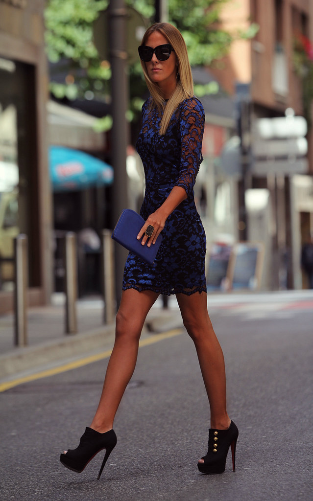 style lover lace blue dress XIV