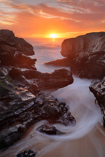 california longexposure sunset santacruz seascape landscape coast nikon bayarea davenport seashore pantherbeach nikond800 holeinthewallbeach nikon1635