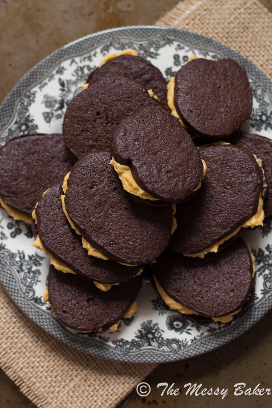 Homemade Oreo Cookies with Pumpkin Buttercream   www.themessybakerblog.com -8863