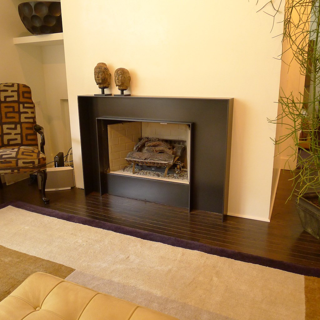 Cold rolled steel grill 5406 contemporary chicago by kramer - Custom Steel Fireplace Surround I Made
