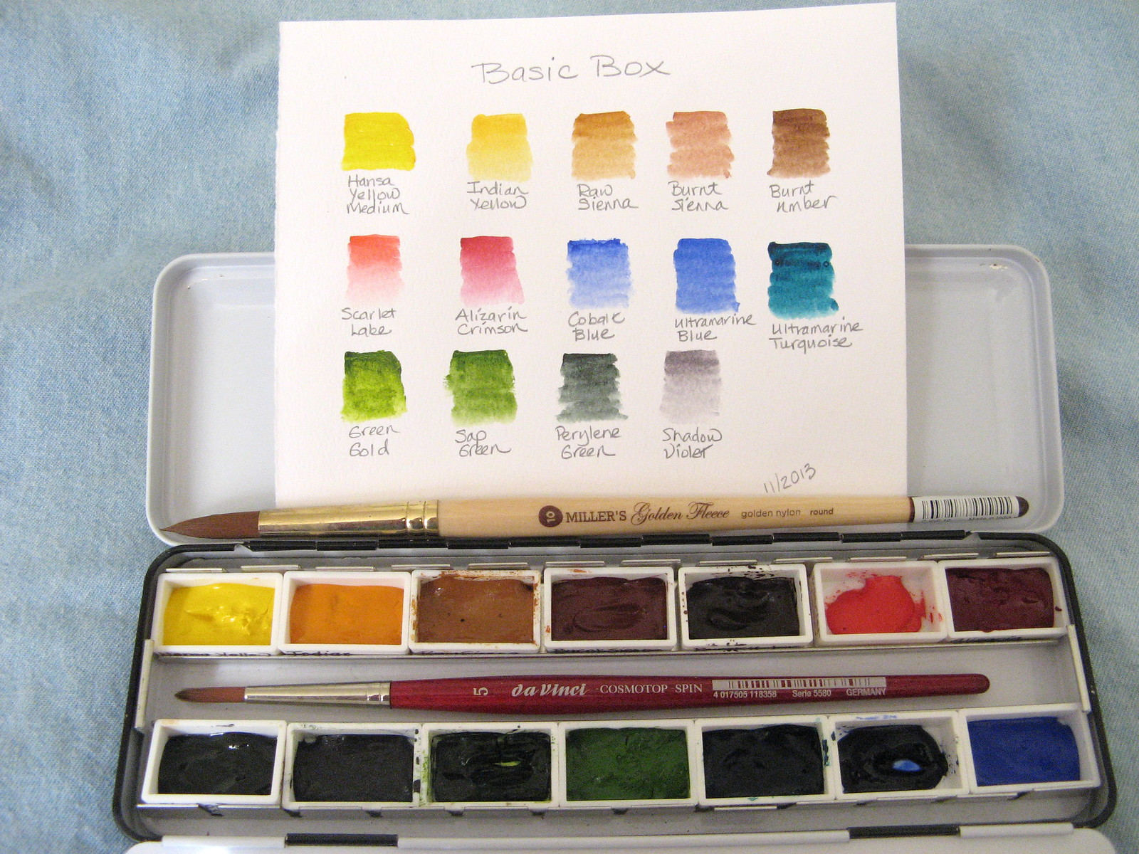 another basic watercolor palette an inkophile 39 s blog