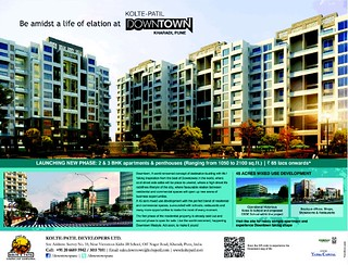 Kolte-Patil DownTown Kharadi New Phase 2 BHK 3 BHK Flats Penthouses Launched (30-11-2013)