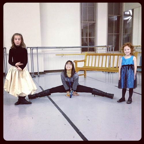 Our girls having so much fun at @ohiodancetheater #clevelandnutcracker event! @kakaty @moninaw @ohiodanceorg