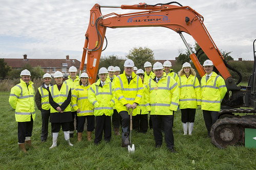 First spade in the ground heralds new Performing Arts Centre for Bridgwater