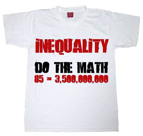 Inequality. Do the math: 85=3,500,000,000 by Teacher Dude's BBQ